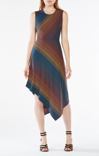 Tracie Striped Asymmetrical Dress