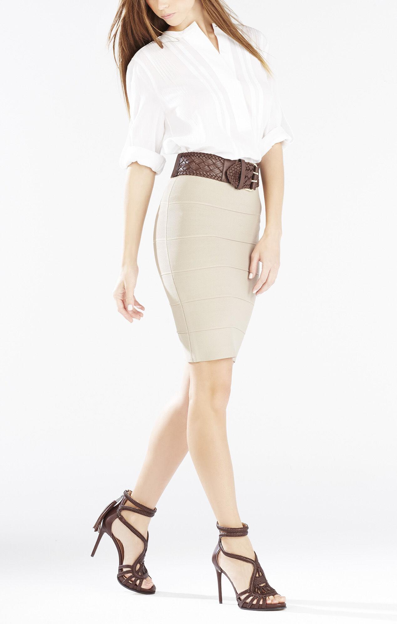 Esh High-Heel Leather Macrame Sandal