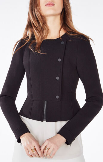 Jaymes Peplum Moto Jacket