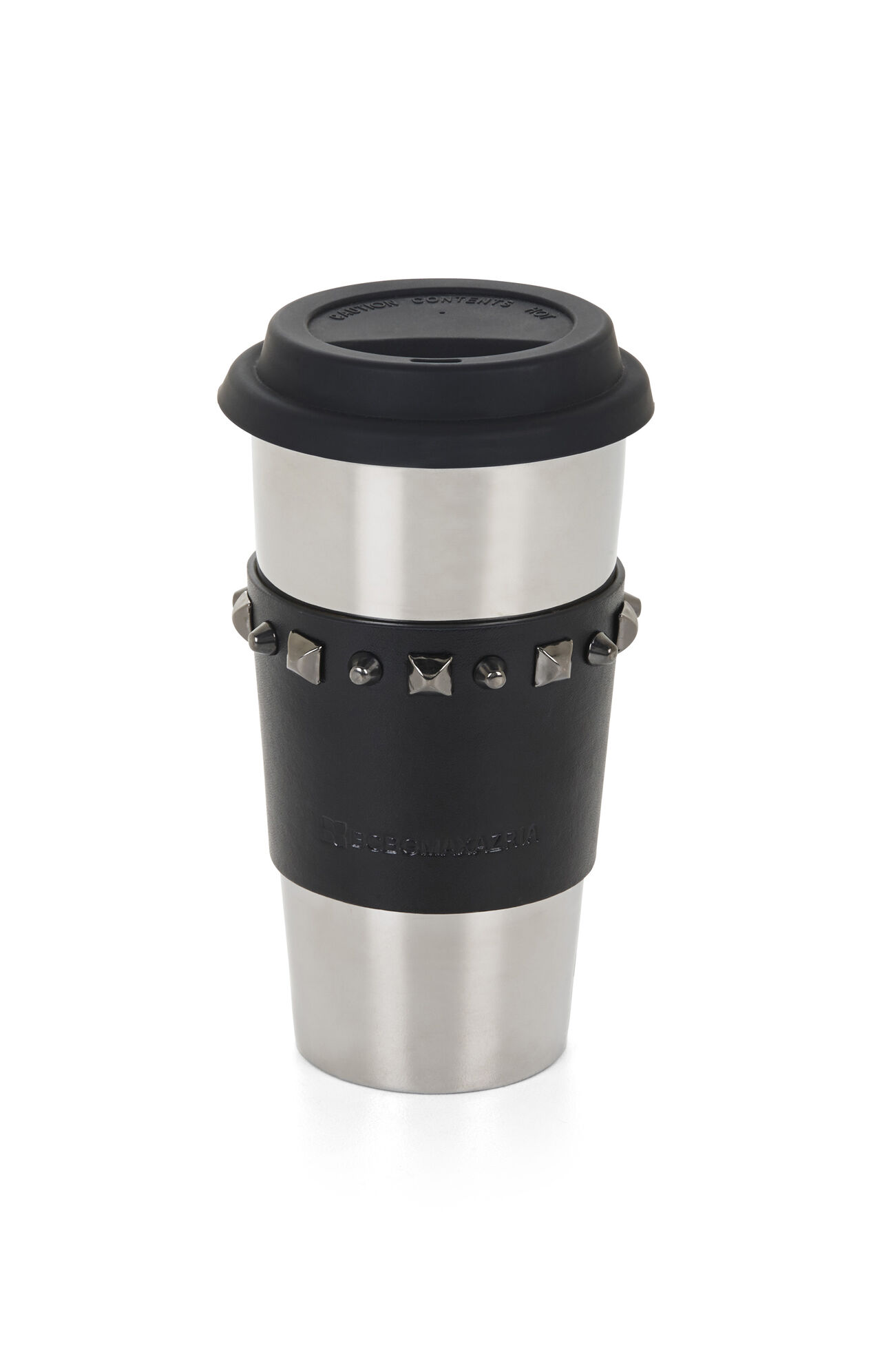 Studded-Sleeve Ceramic Travel Mug