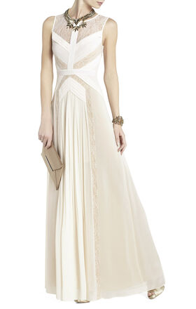 Avi Pleated Gown
