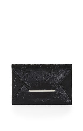 Harlow Matte-Sequined Envelope Clutch
