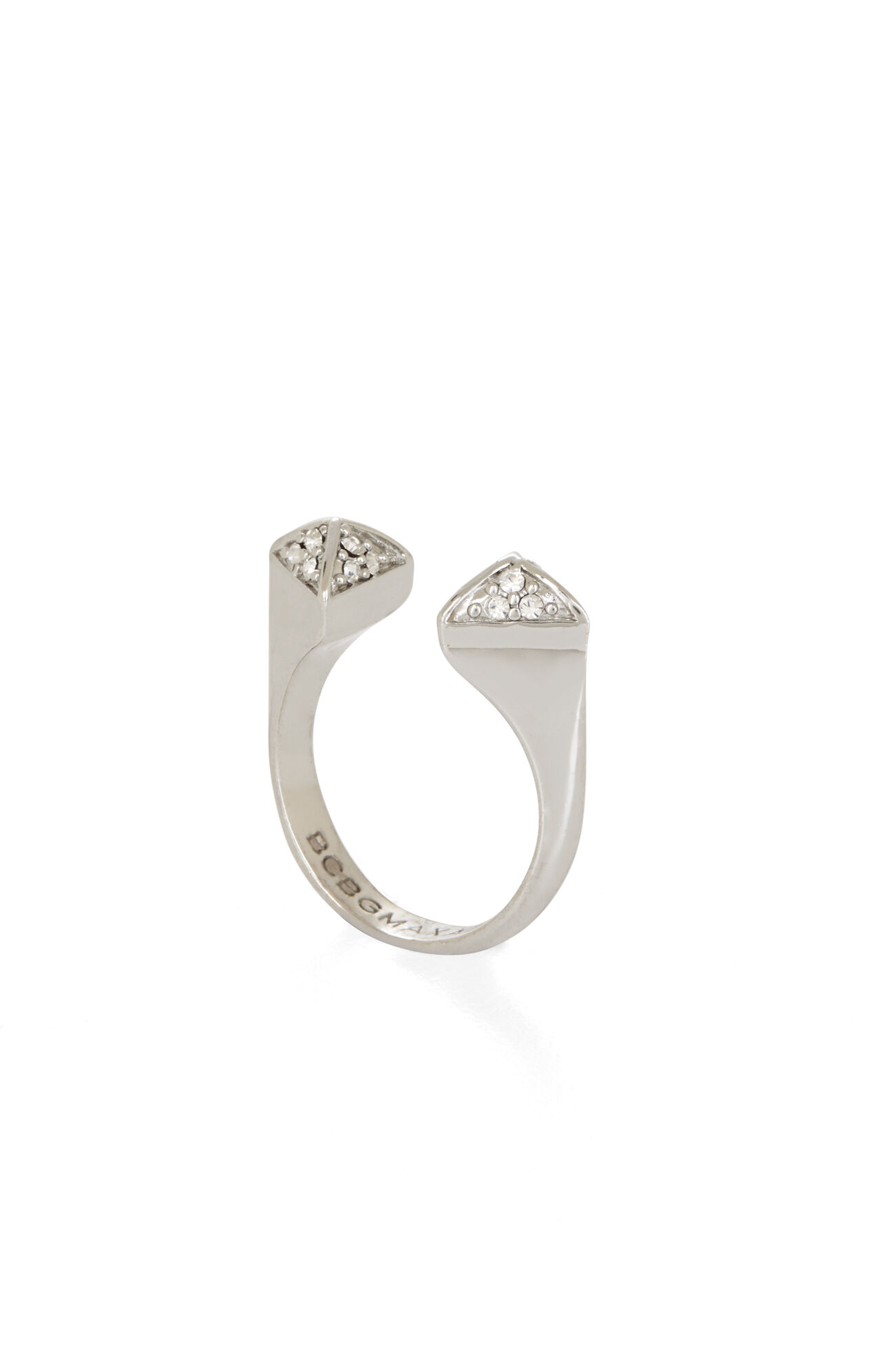 Inset Stone Triangle Ring