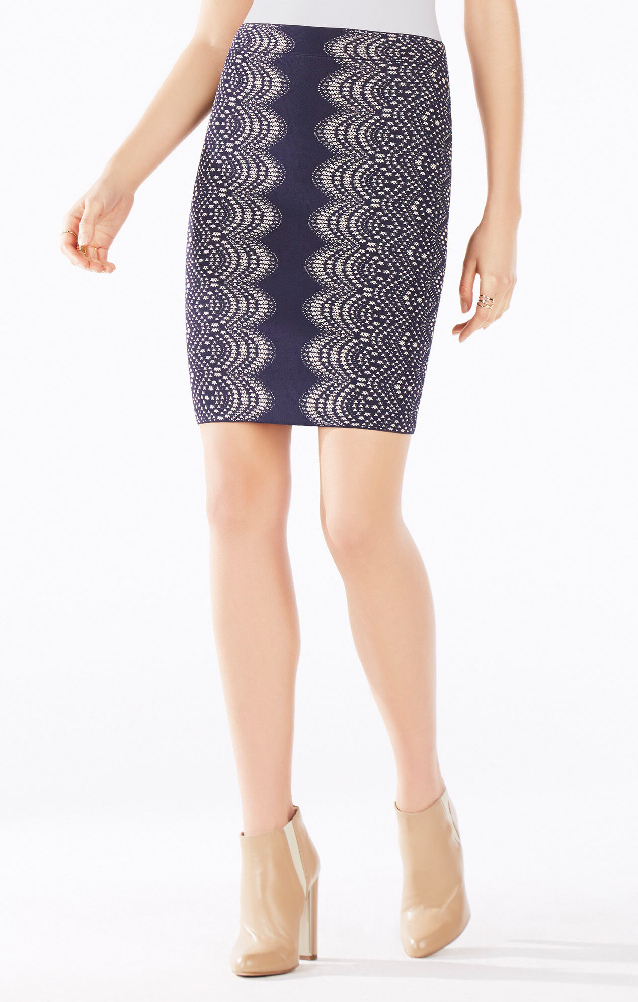 Pavel Knit Jacquard Power Skirt