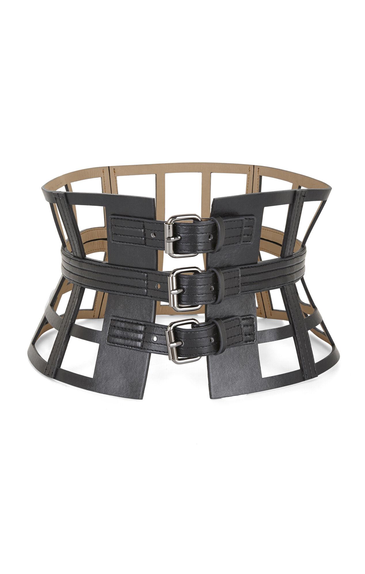 Grid Cutout Corset Waist Belt
