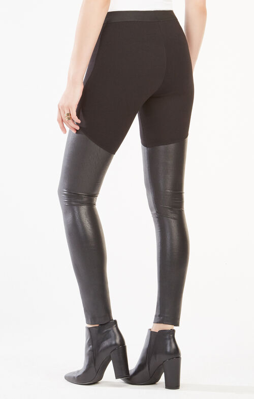 Francisco Faux-Leather Blocked Leggings