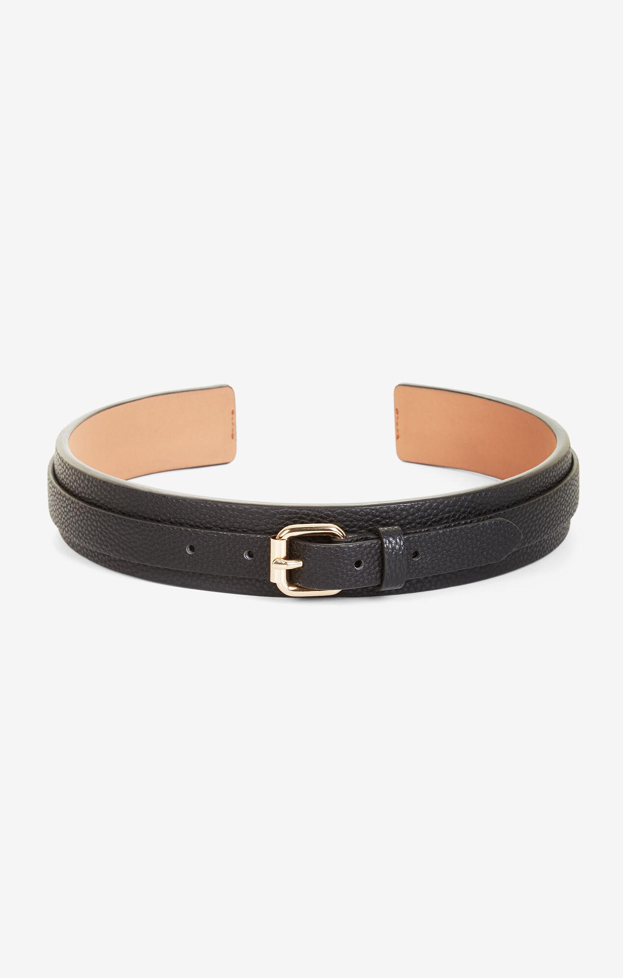 Faux-Leather Waist Belt