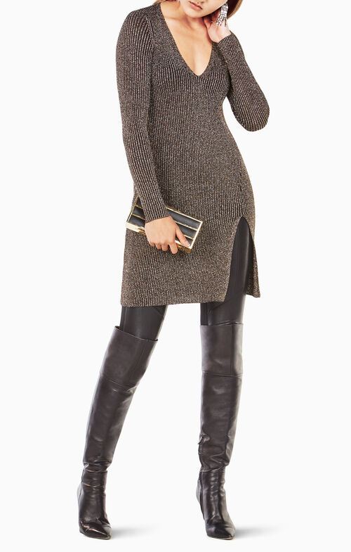 Macki Metallic Tunic Dress