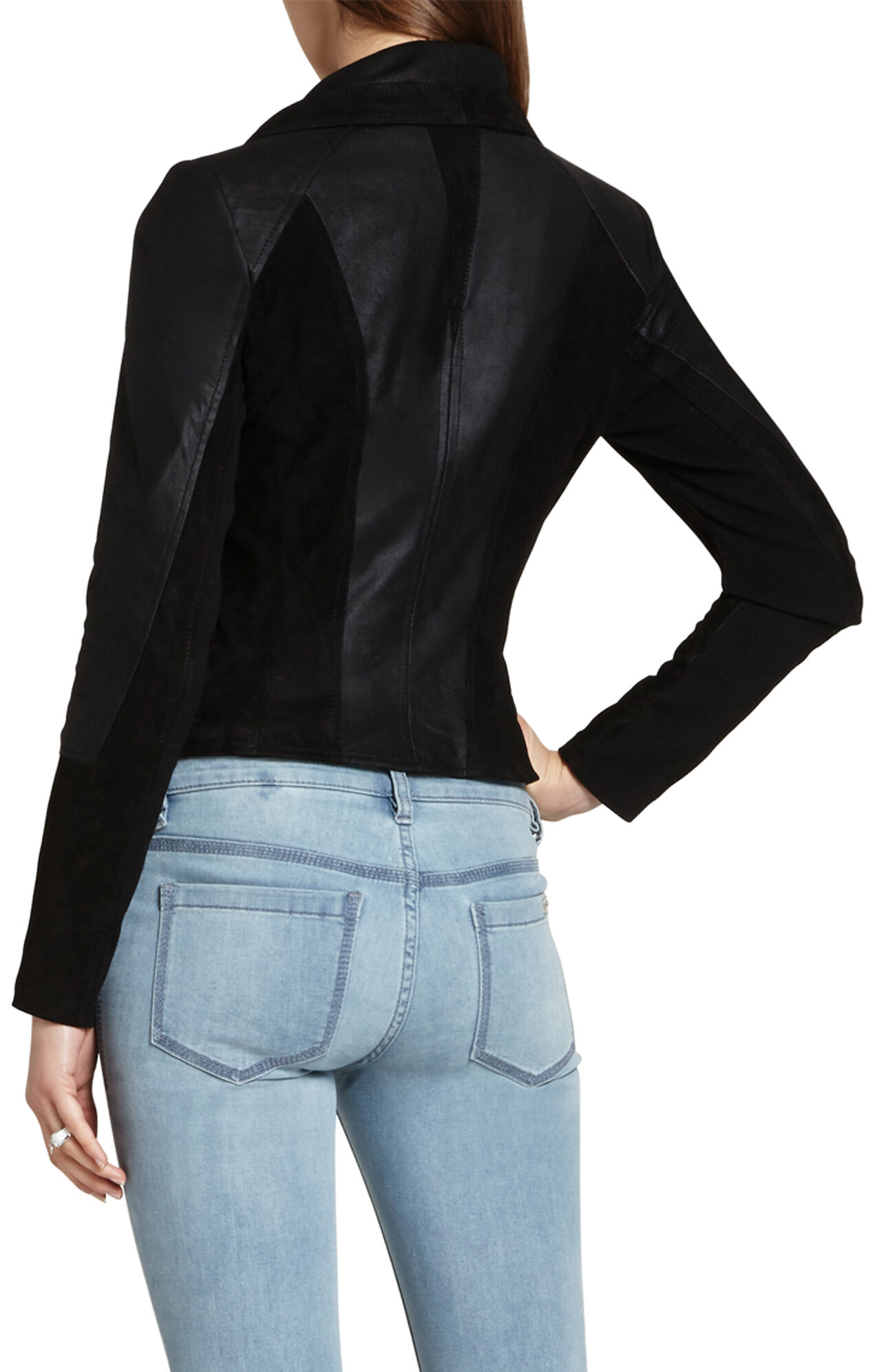 Denny Draped-Front Moto Jacket