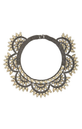 Metal-Spike Bib Necklace