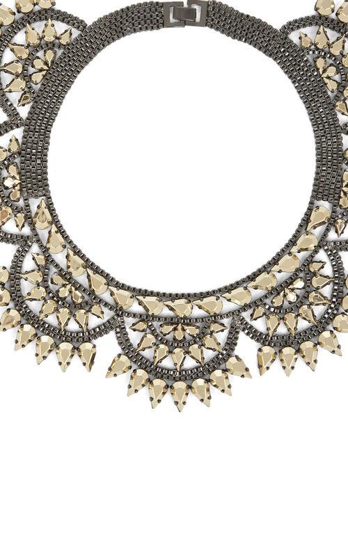 Metal-Spike Bib Necklace