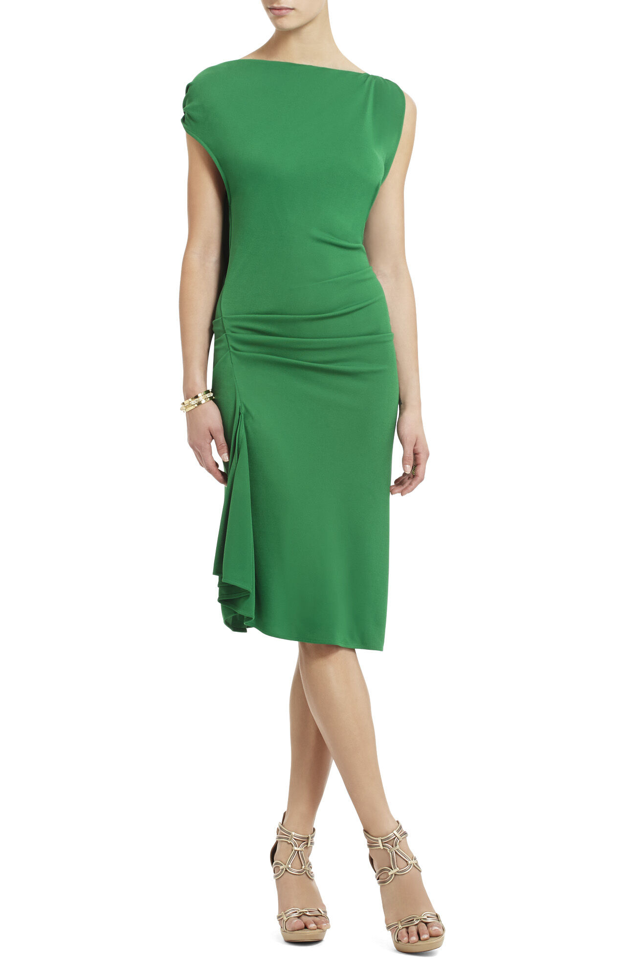 Adeline Asymmetrical Draped Short Dress