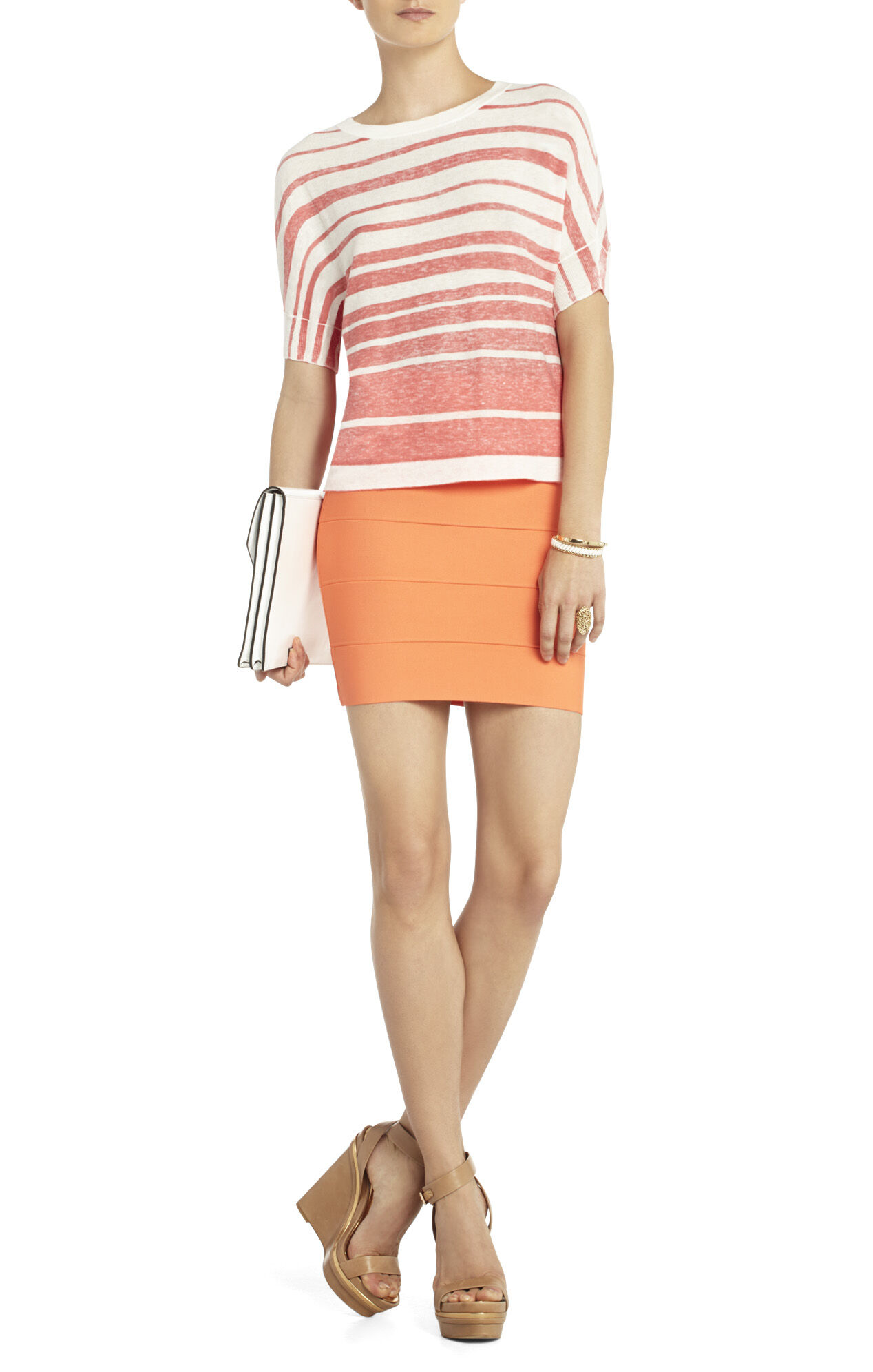 Maria Striped Dolman-Sleeve Top