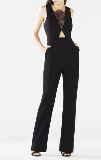 Josef Lace Cutout Wide-Leg Jumpsuit