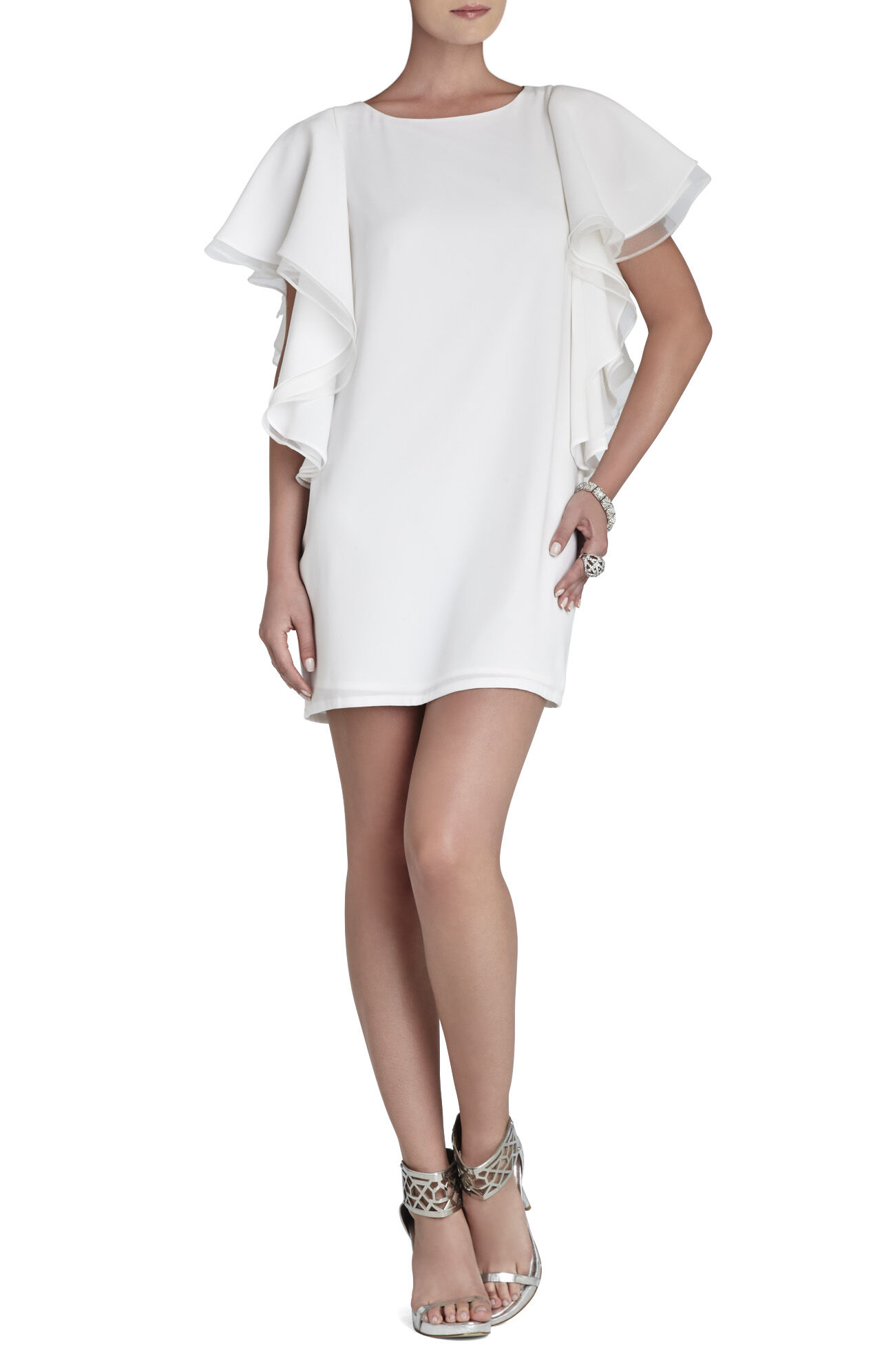 Solace Ruffle-Sleeve Dress