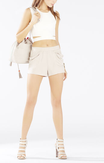 Talen Draped-Pocket Shorts