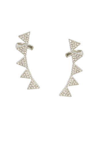 Pave Triangle Ear Cuff