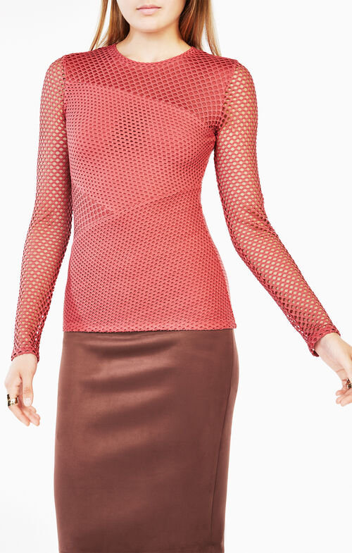 Mindy Mesh-Paneled Top