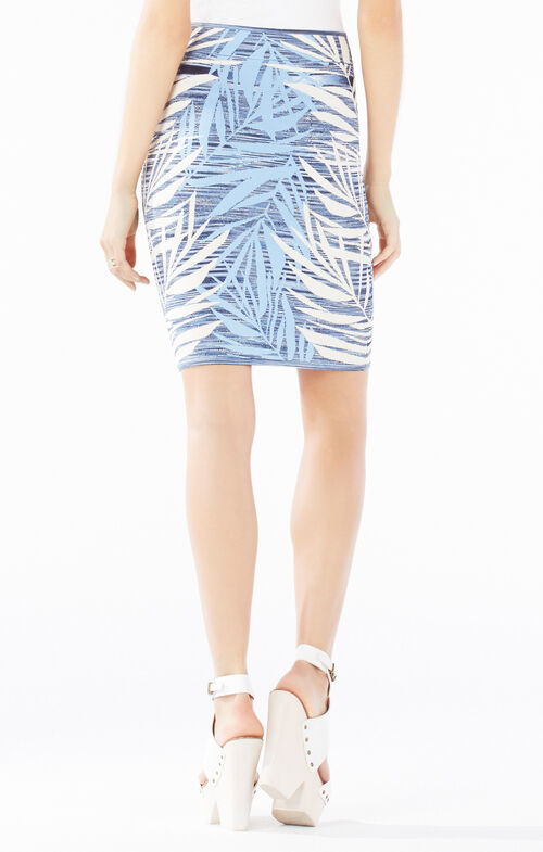 Pavel Palms Knit Jacquard Power Skirt