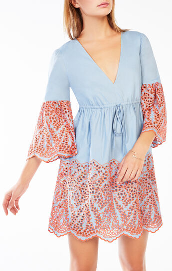 Tildah Eyelet Embroidered Peasant Dress