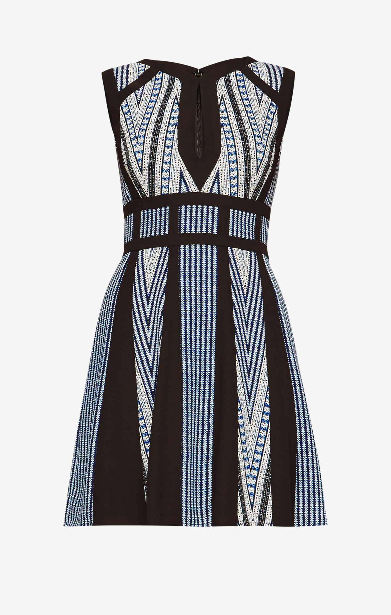 Perla Print-Blocked Dress