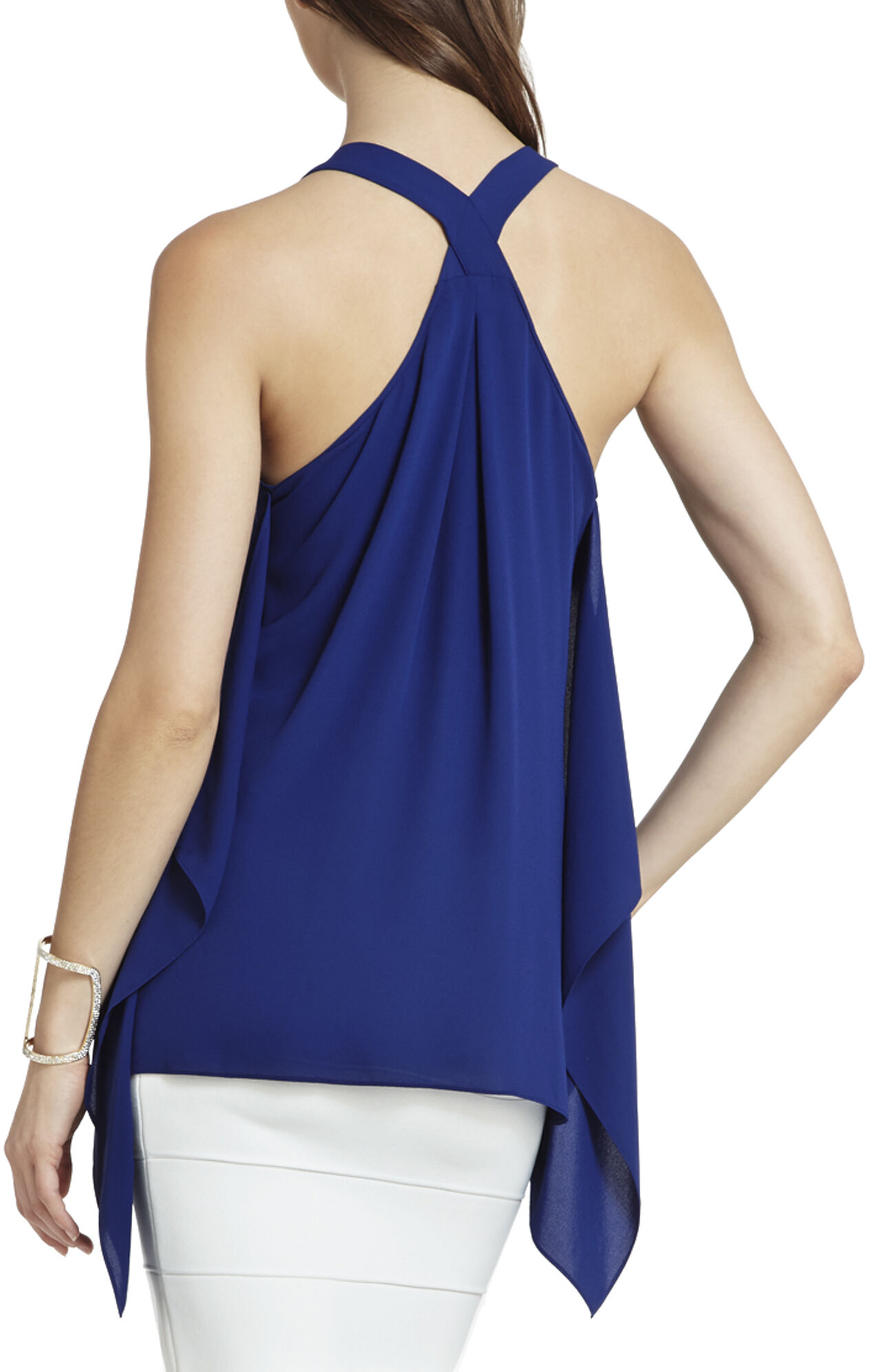 Solange Back-Drape Halter Top