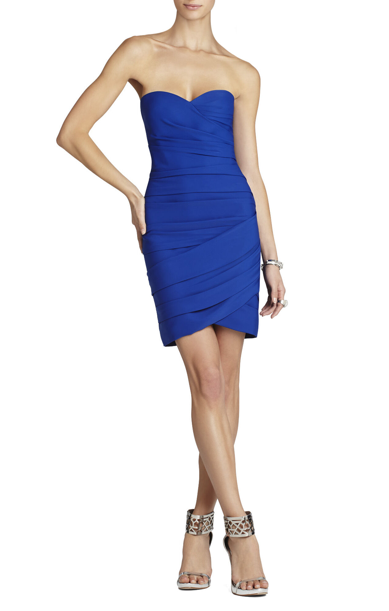 Madge Strapless Ruched Cocktail Dress