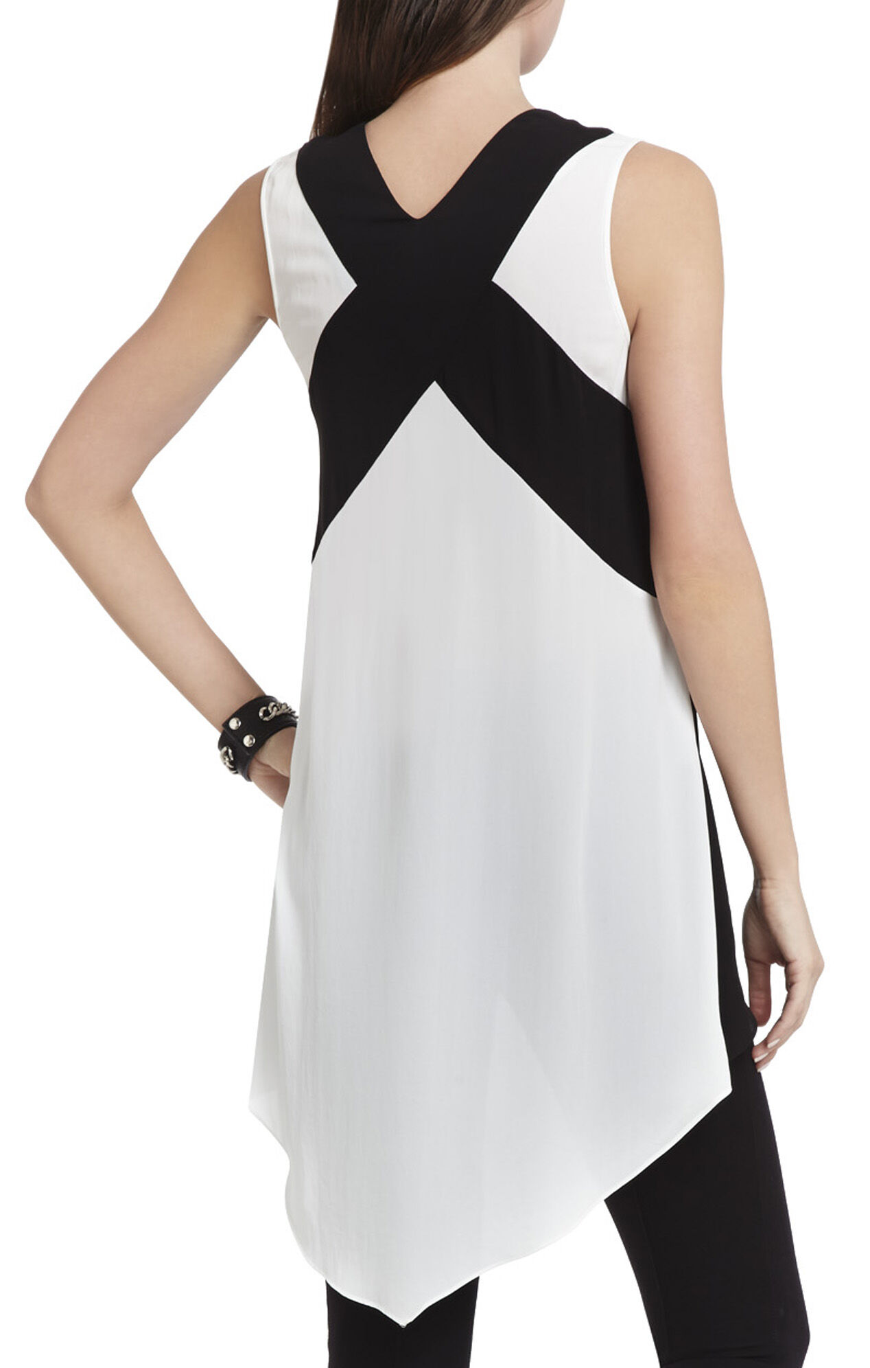 Veronika Sleeveless Color-Blocked Top