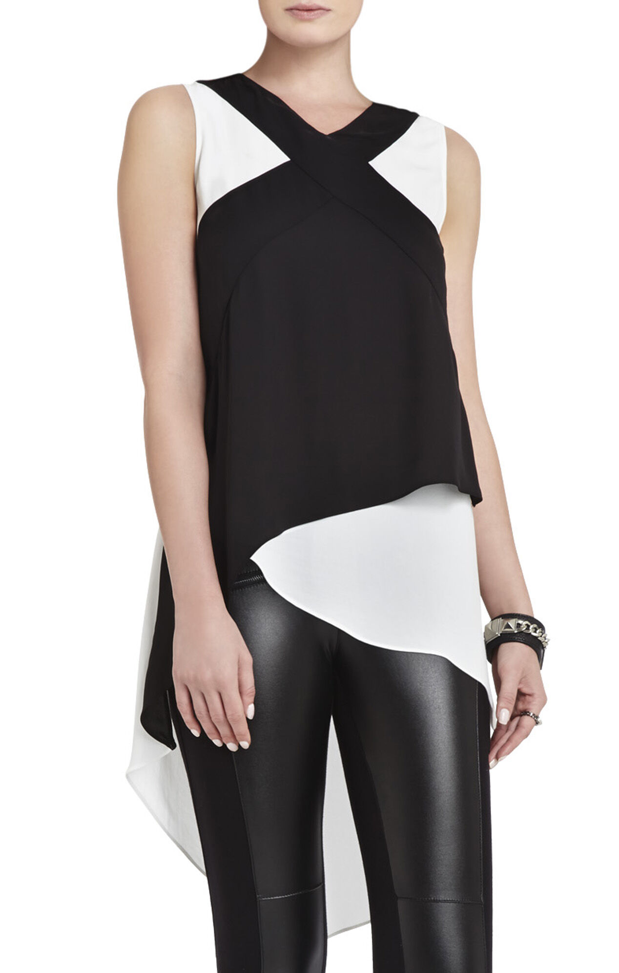 Veronika Sleeveless Color-Blocked Top