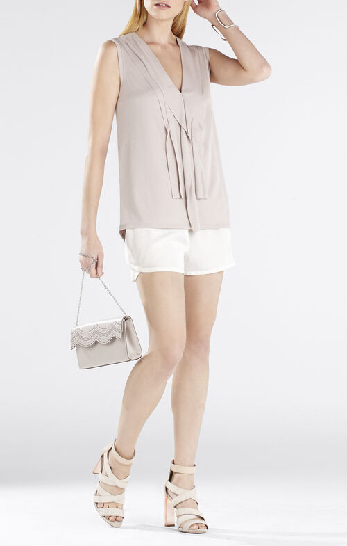 Jessa Front Cascade V-Neck Top