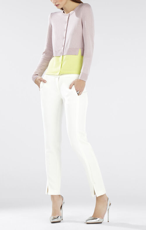 Elaine Color-Blocked Cropped Cardigan