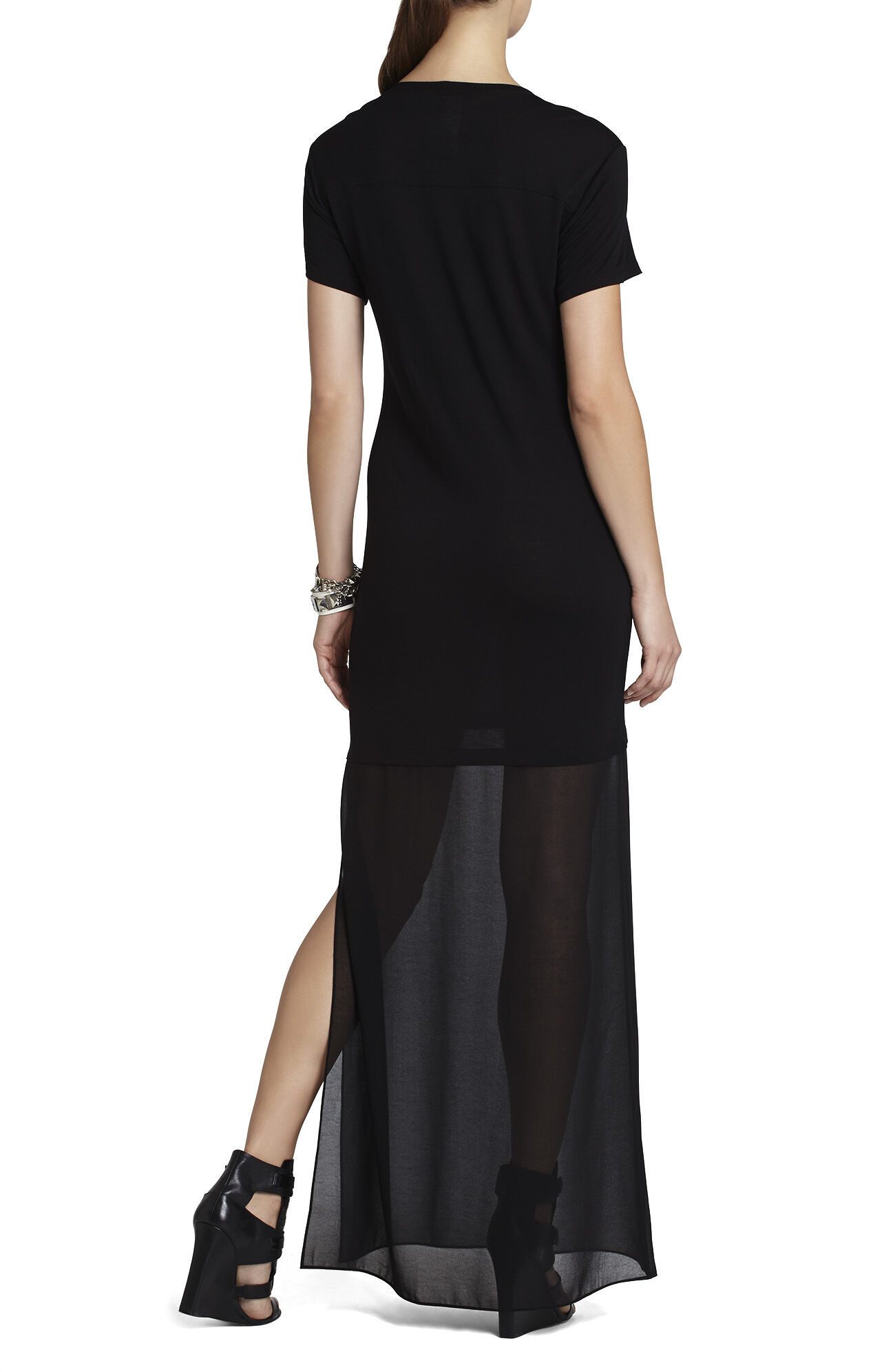 Cassia Short-Sleeve Maxi Dress