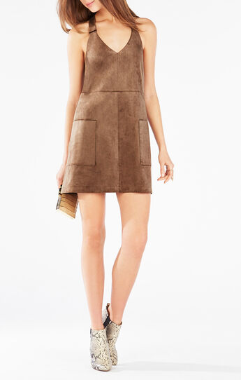 Abbott Faux-Suede Dress