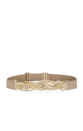 Braided Stone Waist Belt