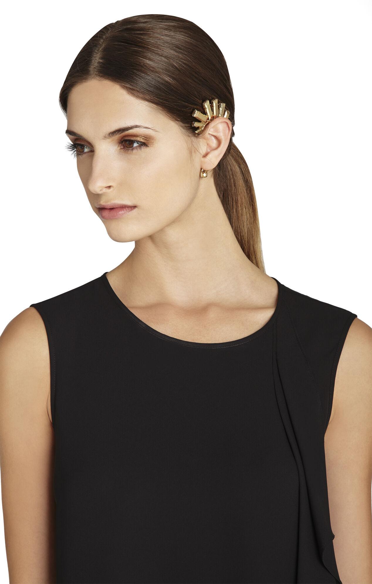 Metal Stone Ear Cuff - Right Ear