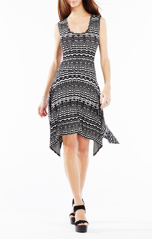 Ane Striped Knit Jacquard Dress
