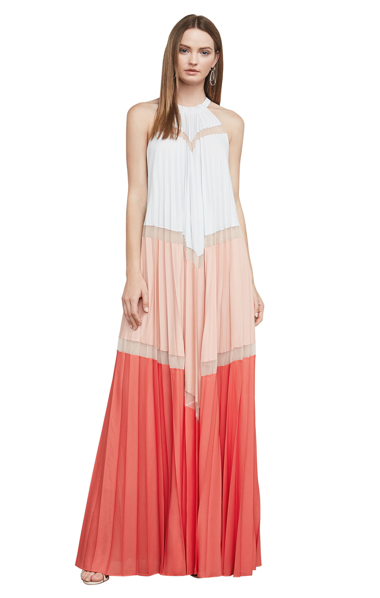 Alyson Sleeveless Color-Blocked Maxi Dress