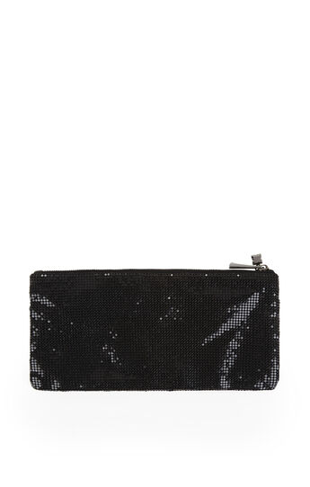 Sonya Beaded Metal Mesh Wristlet