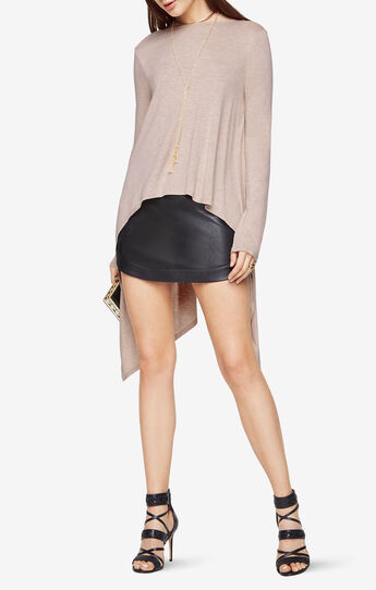 Roxanna Draped High-Low Open-Back Top