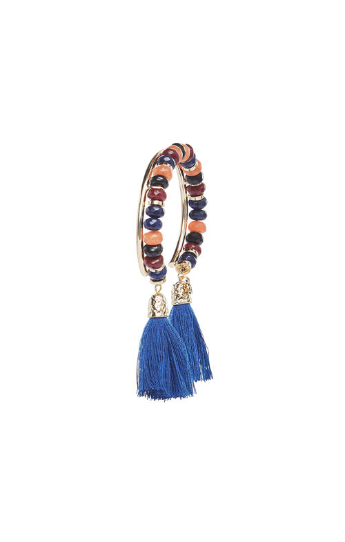 Beaded Tassel Cuff Bracelet