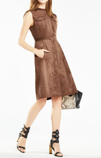 Allexandria Faux-Suede Dress