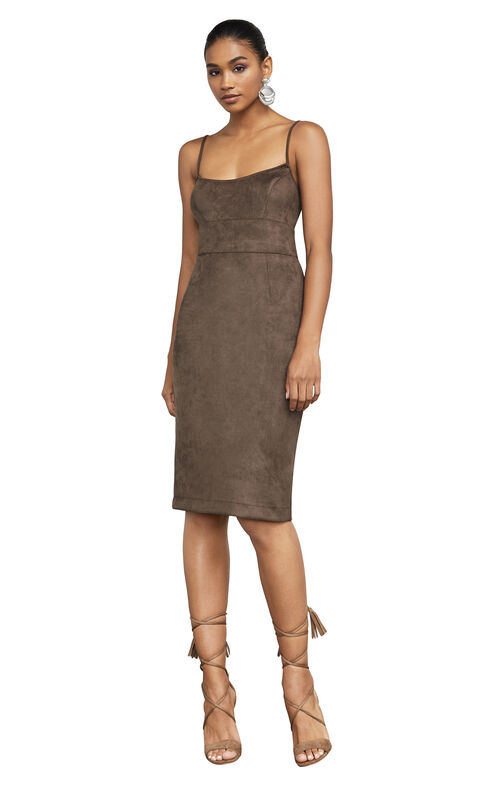 Alese Faux-Suede Dress