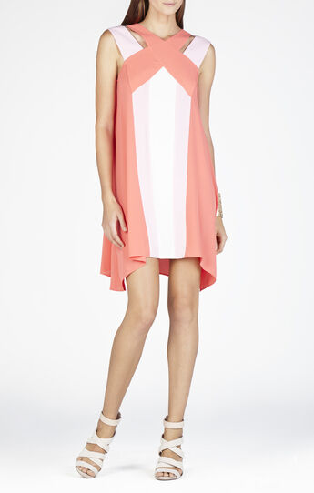 Chantal Crossover Neckline Dress