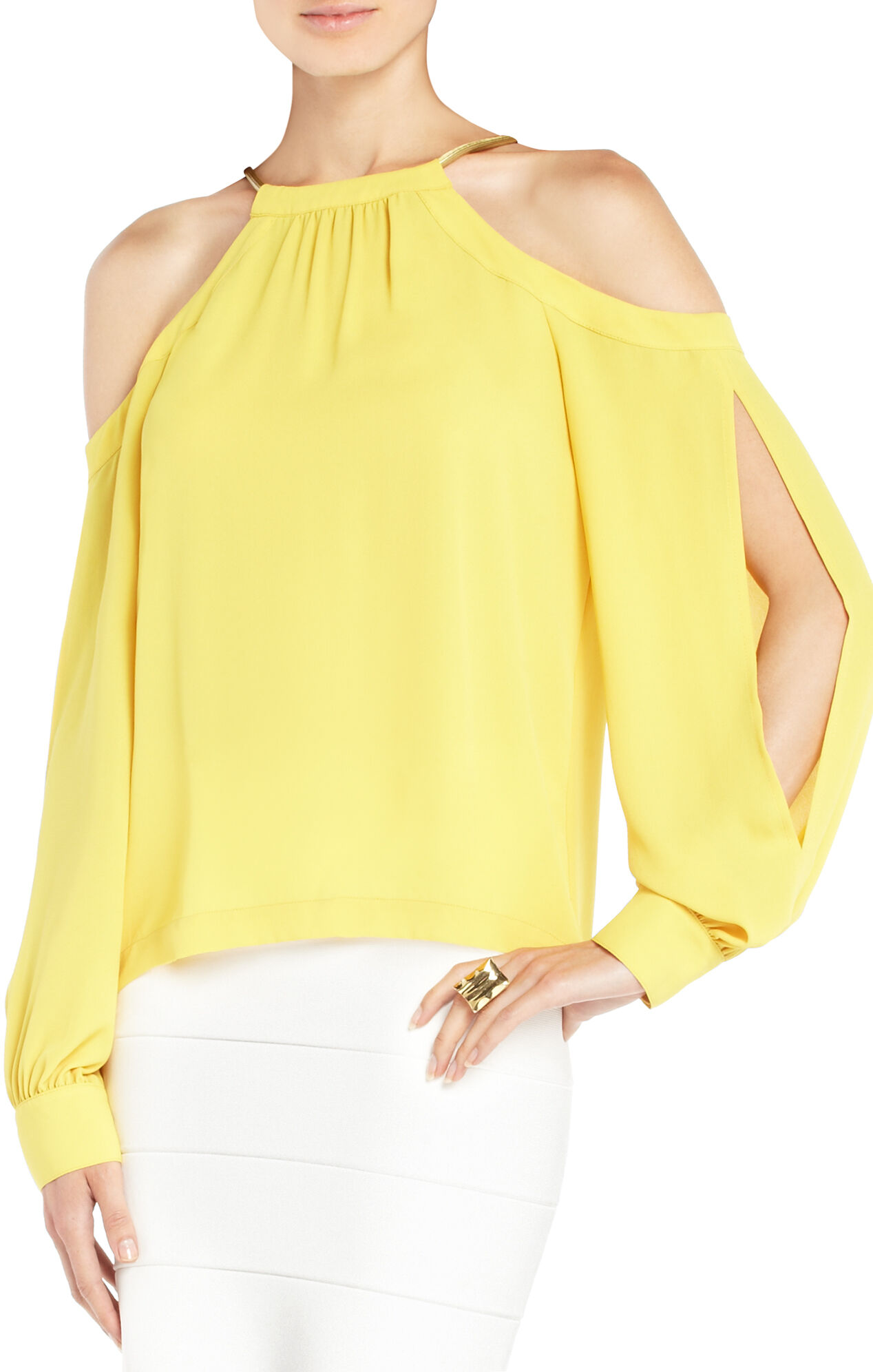 Ivory Open-Shoulder Top