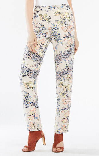 Ryen Floral Print-Blocked Pant