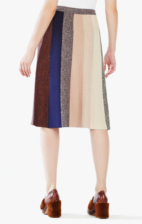 Talulah Color-Blocked Midi Skirt
