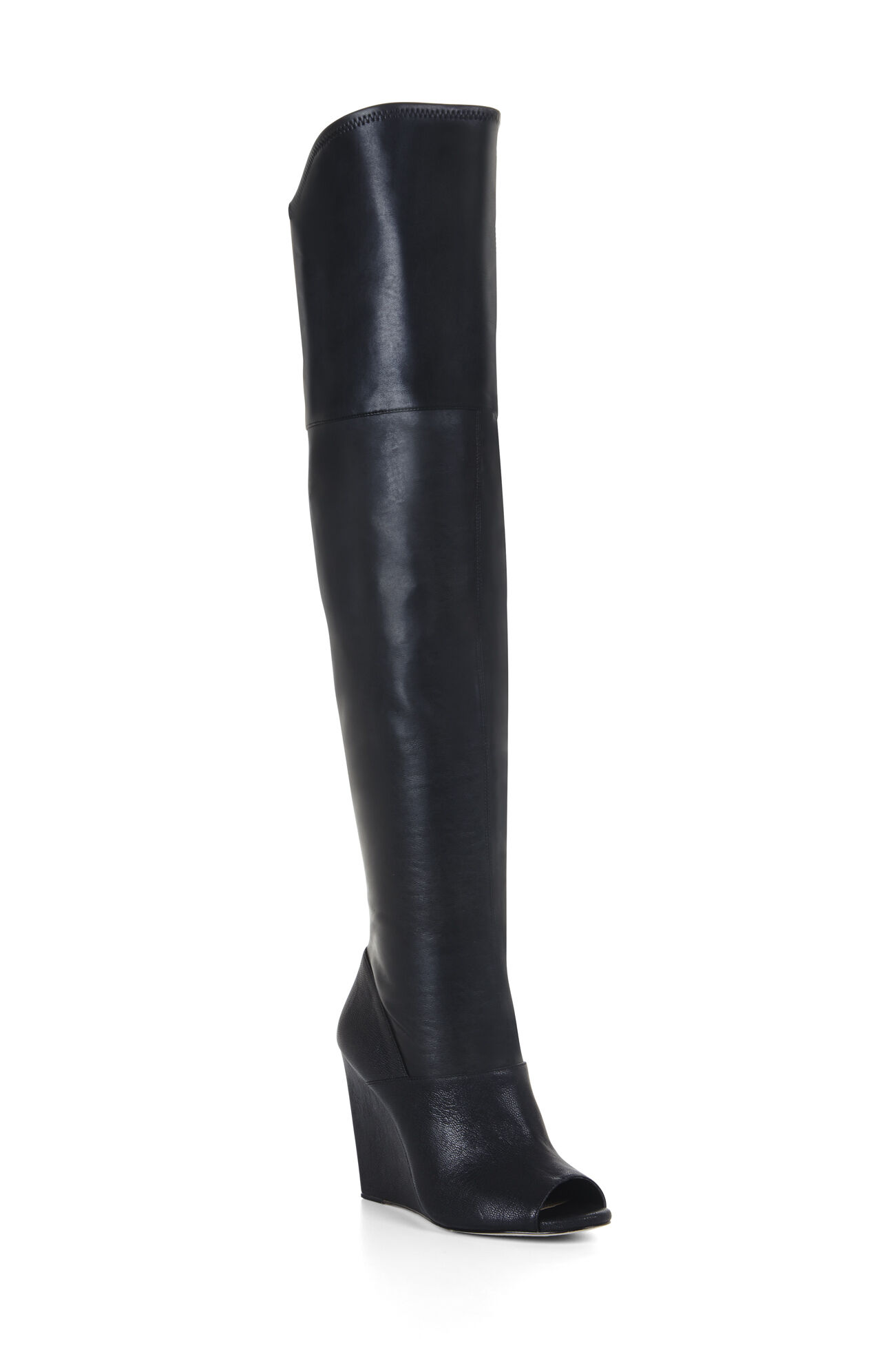 Gian Peep-Toe Wedge Tall Boot