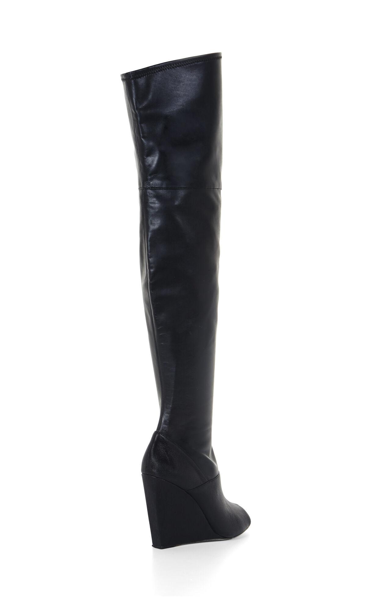 Gian Peep-Toe Wedge Tall Boot