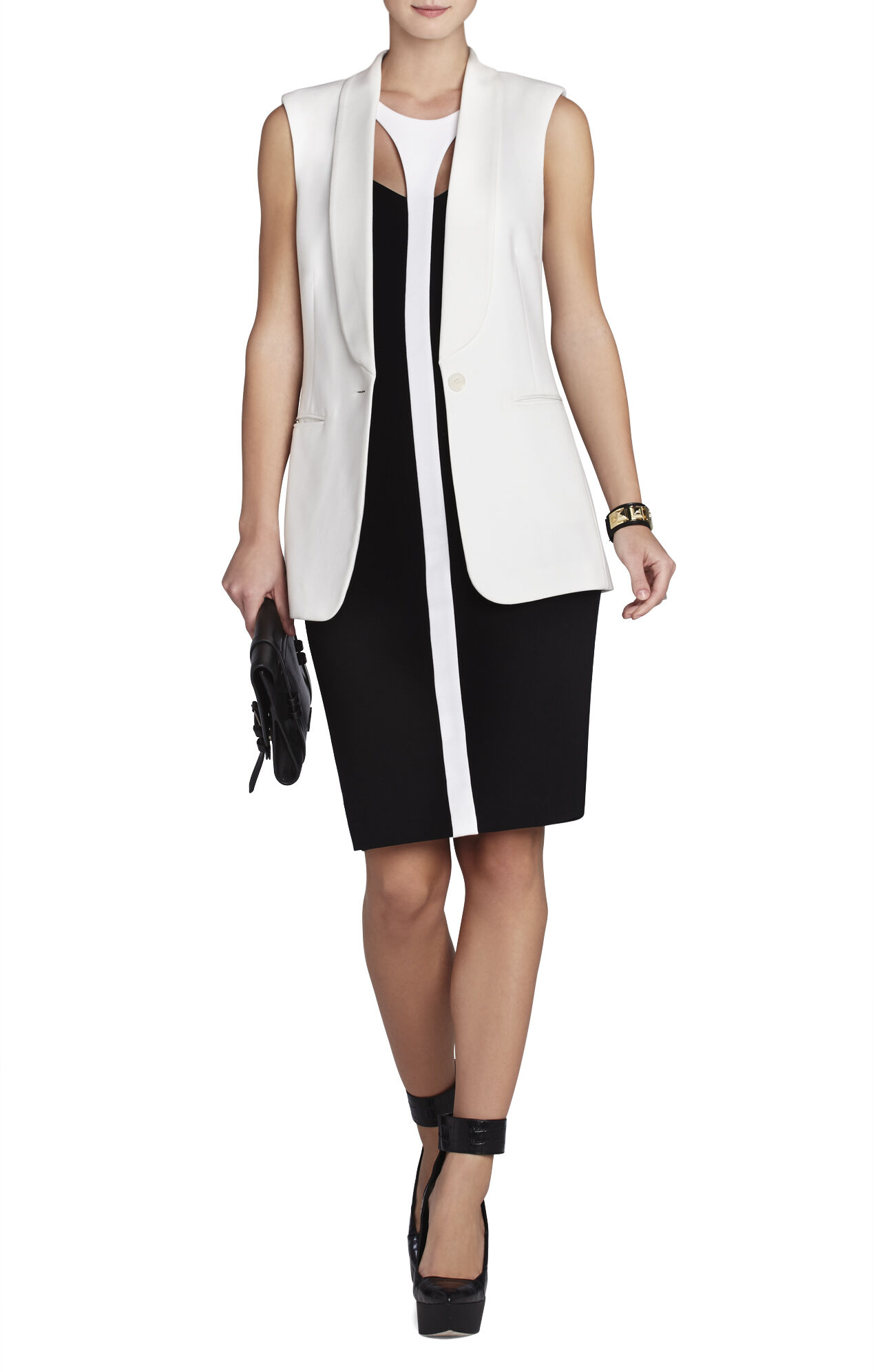 Delilah Sleeveless Blocked Sheath Dress