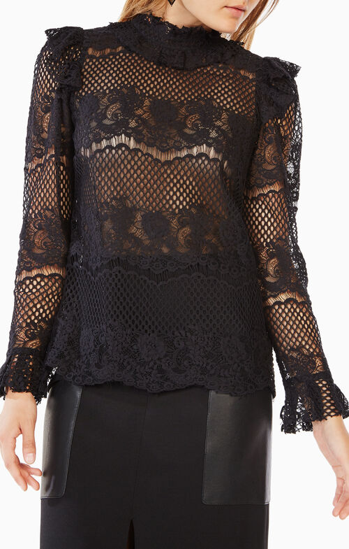 Kenzie Ruffled Lace Top